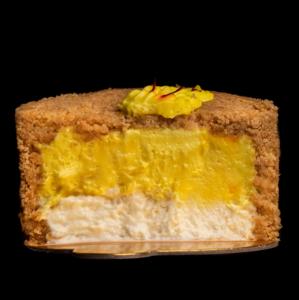 Drivu Upside Down Saffron Cheesecake