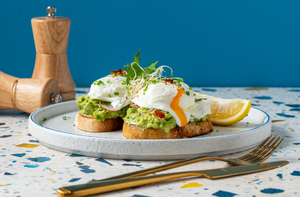 Drivu Avocado Toast with Poached Eggs