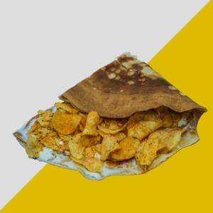 Drivu Chips Oman & Kraft Cheese Crepe