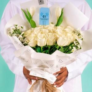 Drivu White Edition Flowers Bouquet