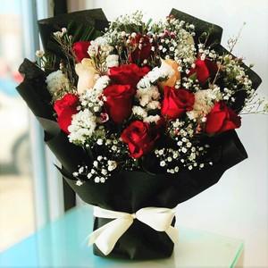Drivu 14 Hand Rose Bouquets