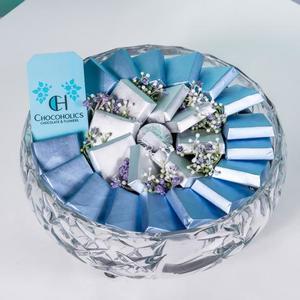 Drivu Transparent Circular Chocolate Tray