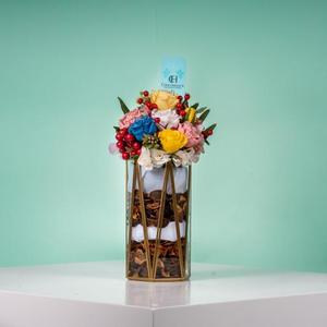 Drivu Golden Vase with Flowers