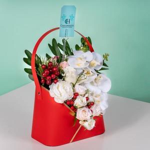 Drivu Red Flowers Bag