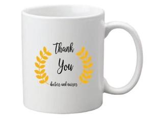 Drivu Thank You Doctors & Nurses Yellow Mug