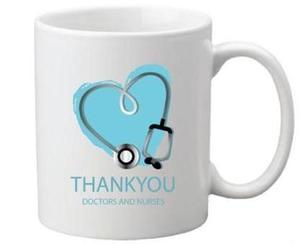 Drivu Thank You Doctors & Nurses Blue Mug