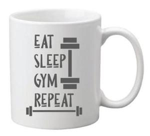 Drivu Eat Sleep Gym Repeat Mug