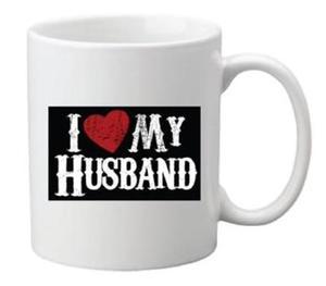 Drivu I Love My Husband Mug (white text)
