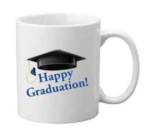 Drivu Happy Graduation 02 Mug (blue text)