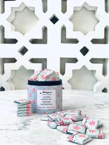 Drivu Rose & Pistachio 'Falooda' White Chocolate Box of 35 Bites