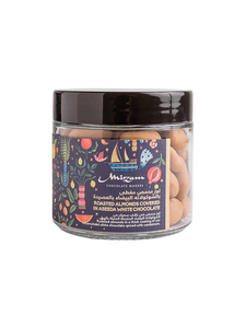 Drivu Roasted Almonds coated in Aseeda White Chocolate