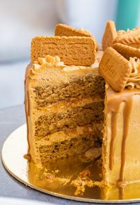 Drivu Lotus Coffee Caramel Cake  (1 slice)