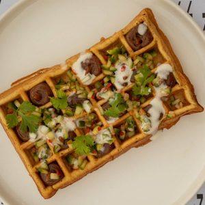 Drivu Falafel Waffle