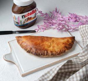 Drivu Chocolate Hazelnut with Banana & Strawberries Calzone
