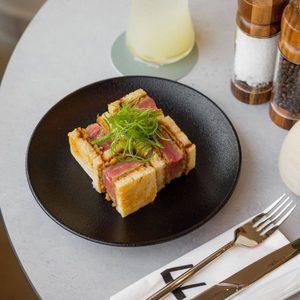 Drivu Wagyu steak sando