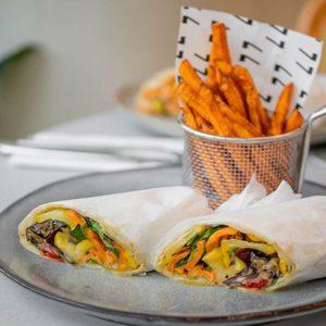 Drivu Roasted vegetable burrito